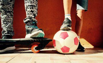 Boys Game Ball Skateboard Football Union