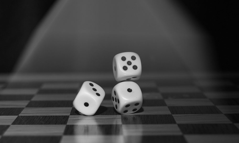 Dice Game Monochrome Roll The Dice Board Game